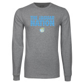 Grey Long Sleeve T Shirt-The Jaguar Nation