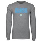 Grey Long Sleeve T Shirt-The Jaguar Nation