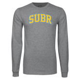 Grey Long Sleeve T Shirt-Arched SUBR