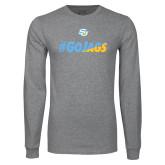 Grey Long Sleeve T Shirt-#GoJags