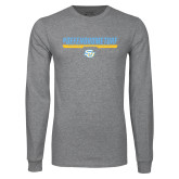 Grey Long Sleeve T Shirt-#DefendHomeTurf