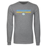Grey Long Sleeve T Shirt-#DefendHomeTurf