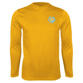 Performance Gold Longsleeve Shirt-Jaguar Head