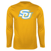 Syntrel Performance Gold Longsleeve Shirt-Interlocking SU