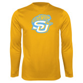 Performance Gold Longsleeve Shirt-SU w/ Jaguar