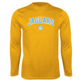 Syntrel Performance Gold Longsleeve Shirt-Arched Jaguars