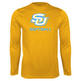 Performance Gold Longsleeve Shirt-Softball