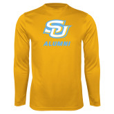 Performance Gold Longsleeve Shirt-Alumni