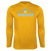 Performance Gold Longsleeve Shirt-Jaguars Football w/ Ball