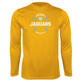 Performance Gold Longsleeve Shirt-Jaguars Baseball w/ Seams