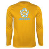 Performance Gold Longsleeve Shirt-Jaguars Soccer Geometric