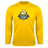 Syntrel Performance Gold Longsleeve Shirt-The Human Jukebox Official Mark