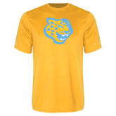 Performance Gold Tee-Jaguar Head