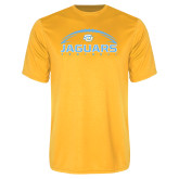 Performance Gold Tee-Jaguars Football w/ Ball