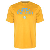 Syntrel Performance Gold Tee-SUBR Jaguars Basketball Half Ball