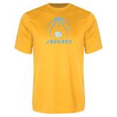 Performance Gold Tee-Jaguars Basketball Contour Lines