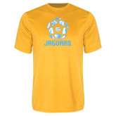 Syntrel Performance Gold Tee-Jaguars Soccer Geometric