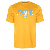 Performance Gold Tee-Southern University Jaguars Softball Texture