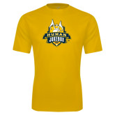 Syntrel Performance Gold Tee-The Human Jukebox Official Mark