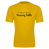Syntrel Performance Gold Tee-Fabulous Dancing Dolls Wordmark