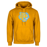 Gold Fleece Hoodie-Jaguar Head