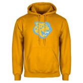 Gold Fleece Hoodie-Jaguar Head