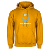 Gold Fleece Hoodie-Southern University Football Helmet