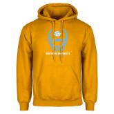 Gold Fleece Hoodie-Southern University Football Helmet