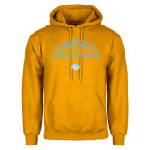 Gold Fleece Hoodie-SUBR Jaguars Basketball Half Ball