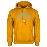 Gold Fleece Hoodie-SUBR Jaguars Basketball Half Ball