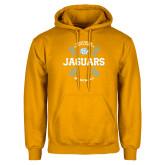 Gold Fleece Hoodie-Jaguars Baseball w/ Seams
