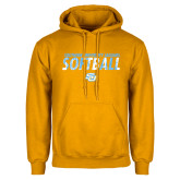 Gold Fleece Hoodie-Southern University Jaguars Softball Texture