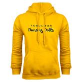Gold Fleece Hoodie-Fabulous Dancing Dolls Wordmark