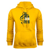 Gold Fleece Hoodie-Nobody Does it Better Music Note