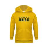 Youth Gold Fleece Hoodie-Human Jukebox Wordmark
