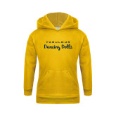 Youth Gold Fleece Hoodie-Fabulous Dancing Dolls Wordmark