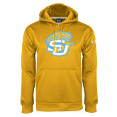 Under Armour Gold Performance Sweats Team Hoodie-SU w/ Jaguar