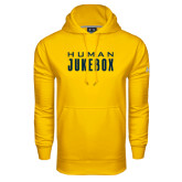 Under Armour Gold Performance Sweats Team Hoodie-Human Jukebox Wordmark