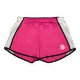 Ladies Fuchsia/White Team Short-The Human Jukebox Official Mark