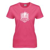 Ladies Fuchsia T Shirt-Fabulous Dancing Dolls Official Mark