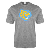 Performance Grey Heather Contender Tee-Jaguar Head