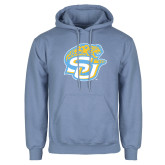 Light Blue Fleece Hoodie-SU w/ Jaguar