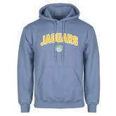 Light Blue Fleece Hoodie-Arched Jaguars