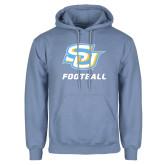 Light Blue Fleece Hoodie-Football