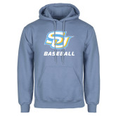Light Blue Fleece Hoodie-Baseball