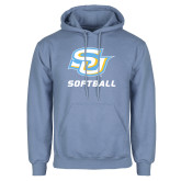 Light Blue Fleece Hoodie-Softball