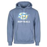 Light Blue Fleece Hoodie-Softball