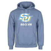 Light Blue Fleece Hoodie-Soccer