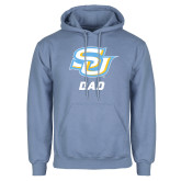 Light Blue Fleece Hoodie-Dad