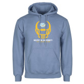 Light Blue Fleece Hoodie-Southern University Football Helmet